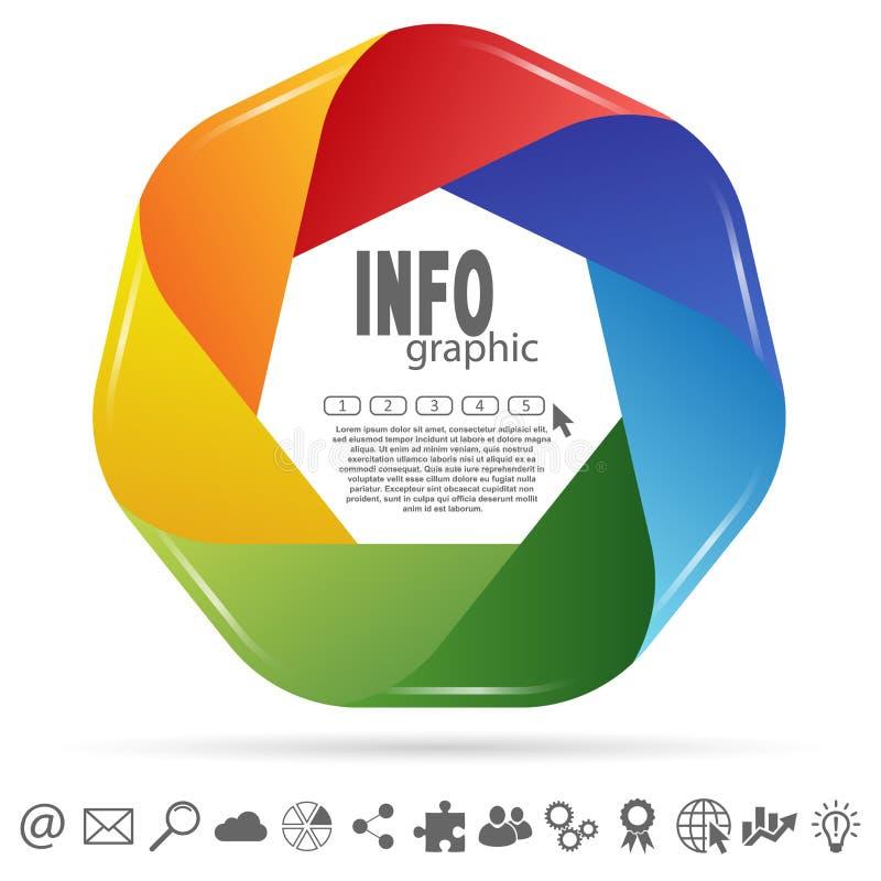 gekleurd informatie grafisch stock illustratie
