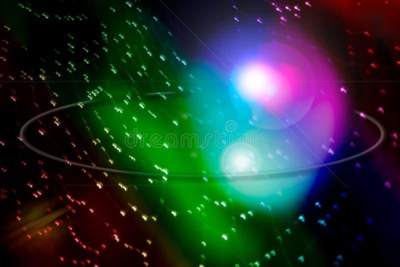 Gekleurd licht van hart stock illustratie