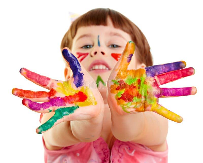 Gekleurd meisje stock fotografie