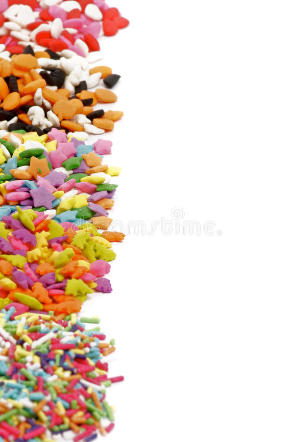 Gekleurd multi bestrooit stock foto's