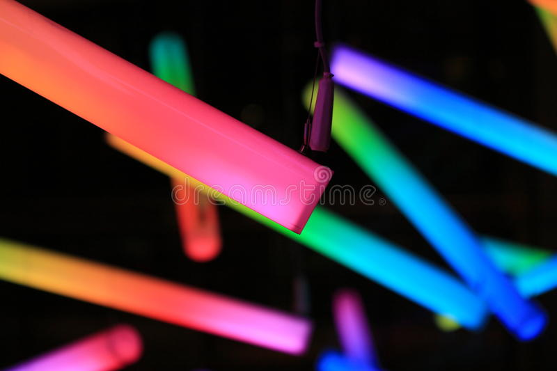 Gekleurd neon royalty-vrije stock foto's