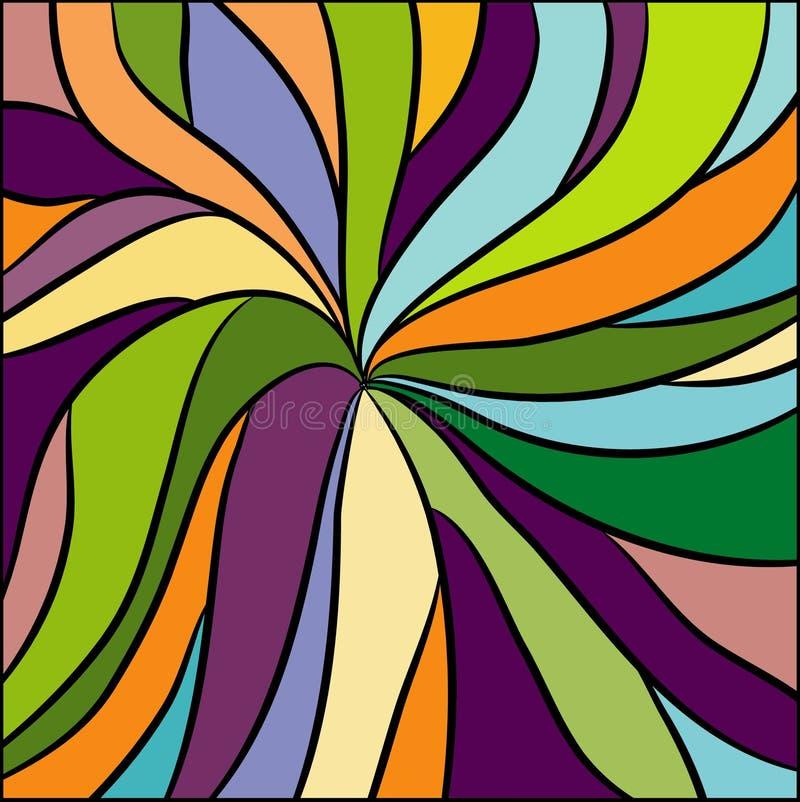 Gekleurd patroon stock illustratie