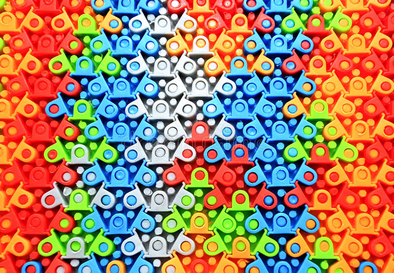 Gekleurd rubberraadsel stock afbeelding