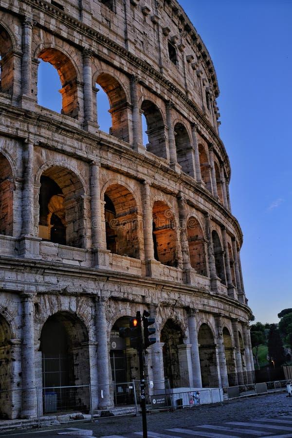 Gekleurd schot van roman colosseum royalty-vrije stock foto