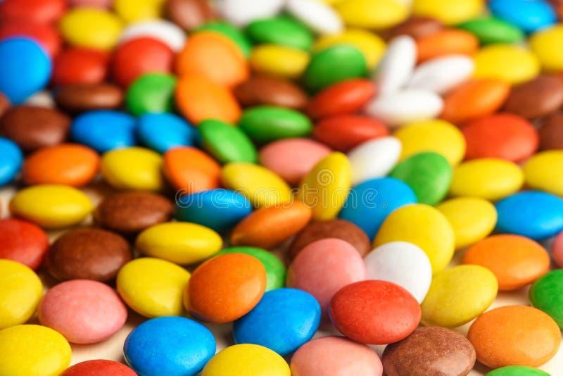 Gekleurd suikergoed voor achtergrond stock afbeeldingen
