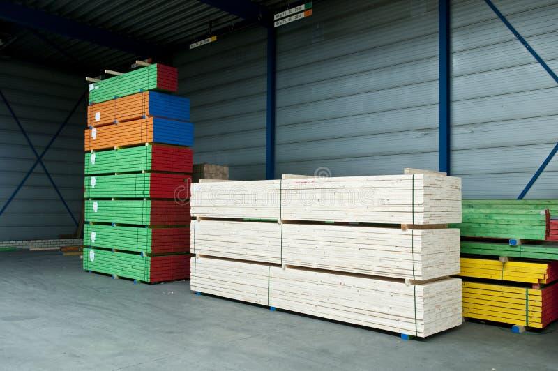 Gekleurd timmerhout stock afbeeldingen