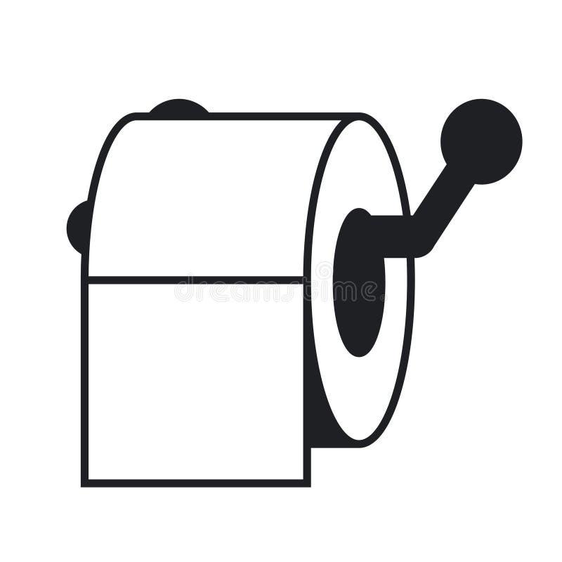 Gekleurd toiletpapier, toiletpapier met lange schaduw, toiletpapierembleem stock illustratie