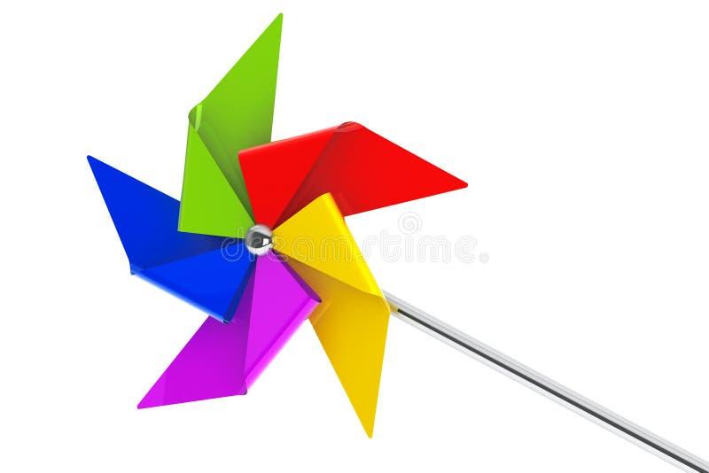 Gekleurd Toy Pinwheel Windmill vector illustratie