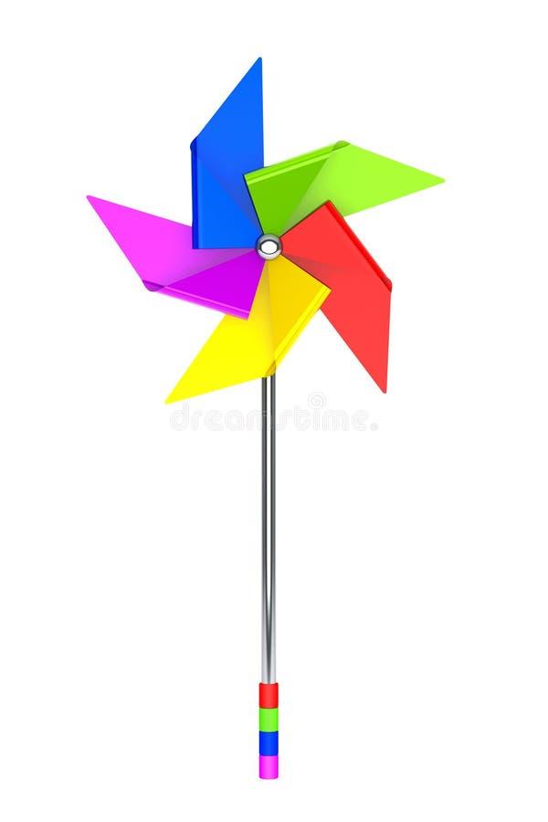 Gekleurd Toy Pinwheel Windmill royalty-vrije illustratie