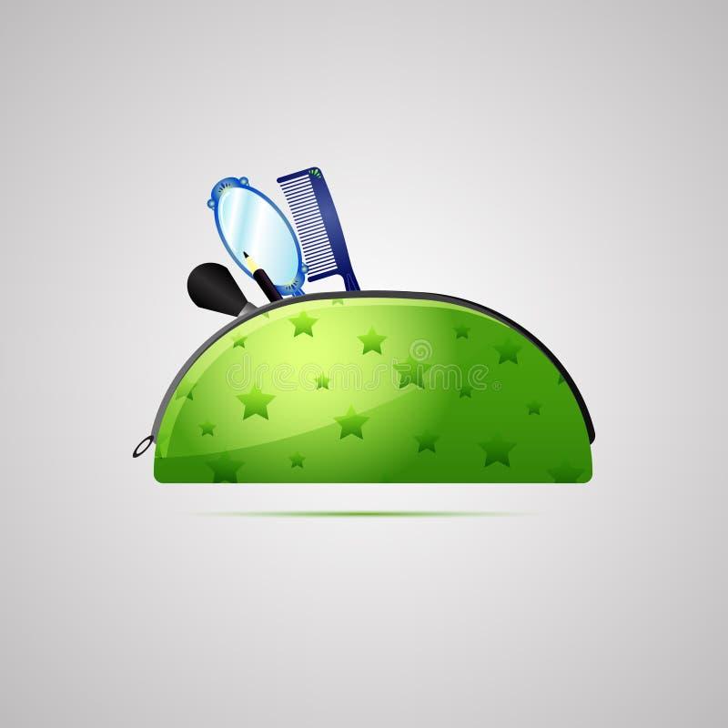 Gekleurd vlak pictogram, vectorontwerp met schaduw De zak van de samenstellingsuitrusting royalty-vrije illustratie