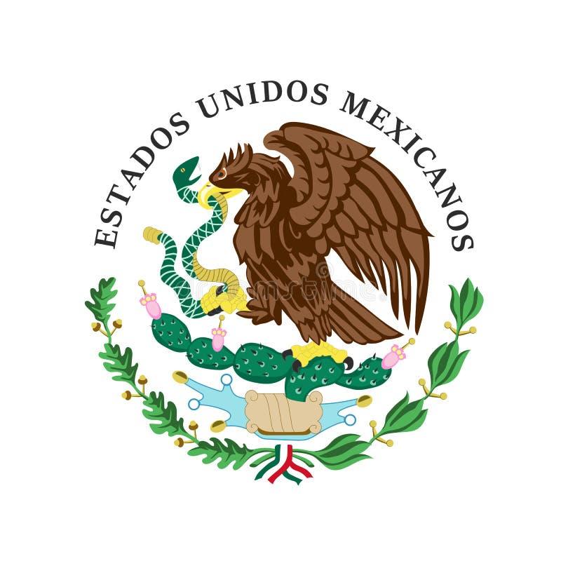 Gekleurd wapenschild van Mexico vector illustratie