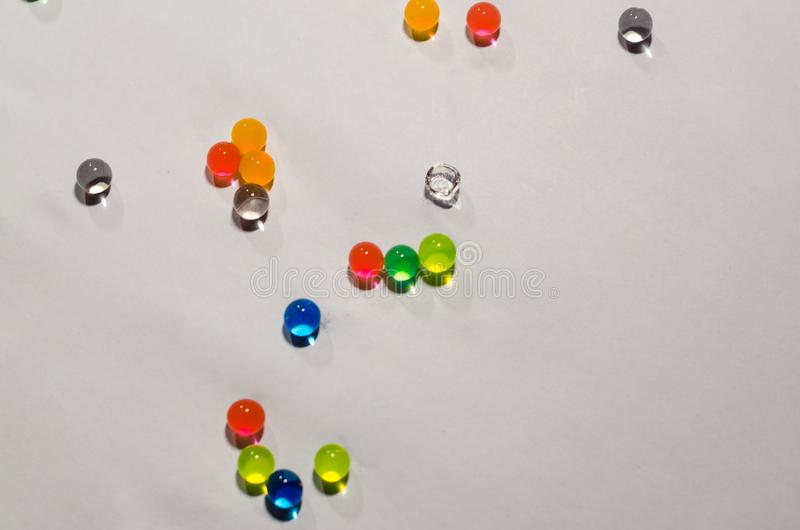 Gekleurde ballen van hydrogel stock foto's