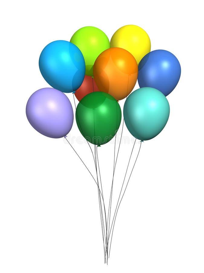 Gekleurde ballons royalty-vrije stock fotografie