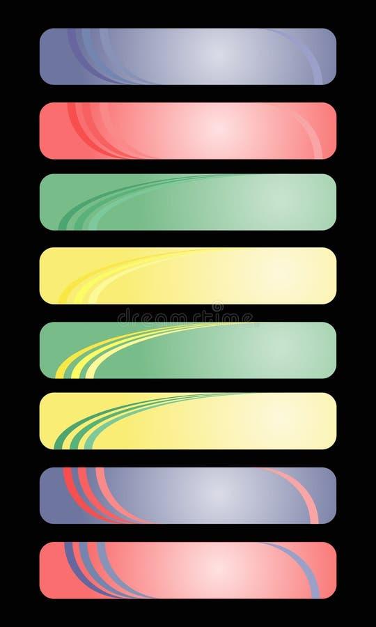 Gekleurde banners vector illustratie