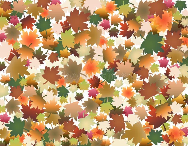 Gekleurde bladeren royalty-vrije illustratie
