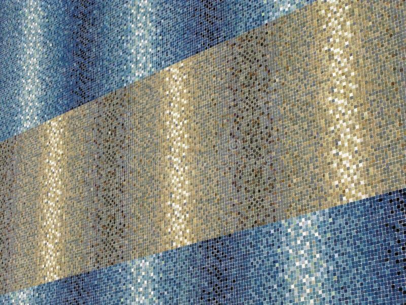 Gekleurde blauwe en gouden tegels royalty-vrije stock foto