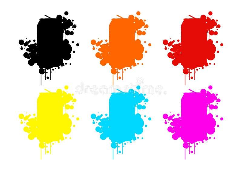 Gekleurde blikken stock foto