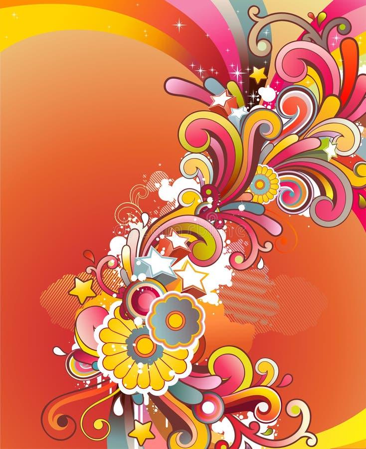 Gekleurde bloemenachtergrond vector illustratie