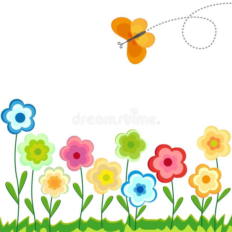 Gekleurde bloemenachtergrond - vector vector illustratie