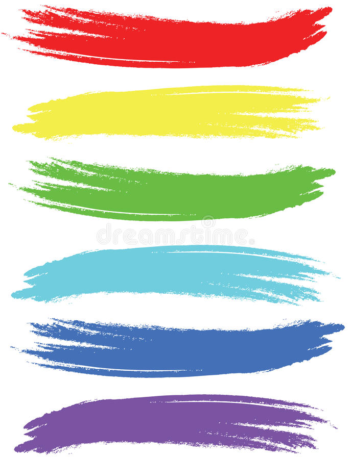 Gekleurde borstelslagen vector illustratie