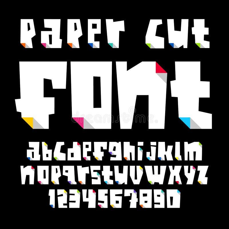 Gekleurde brieven, besnoeiing van document met gebogen kleurenhoek vector illustratie