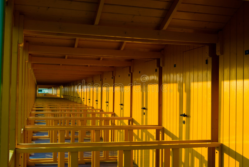 Gekleurde Cabina stock afbeelding