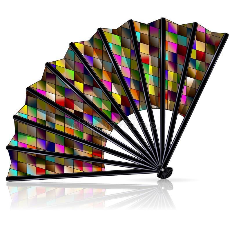 Gekleurde Carnaval-ventilator stock illustratie