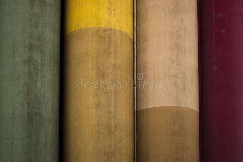 Gekleurde Cilinders stock fotografie
