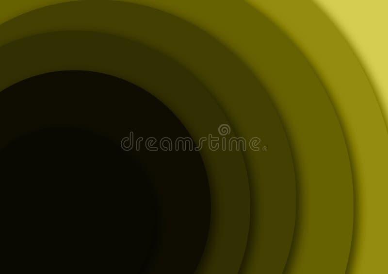 Gekleurde cirkel groene geweven het behangachtergrond van het gradiëntontwerp stock illustratie
