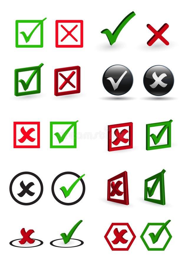 Gekleurde controledoos vector illustratie