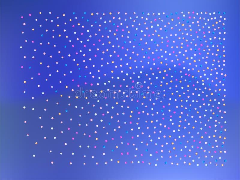 Gekleurde 3d confettienballen, stock illustratie