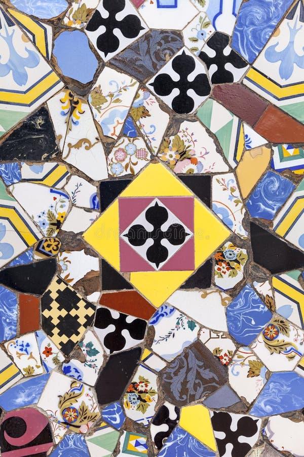 Gekleurde decoratieve tegels Trillende retro uitstekende achtergrond stock afbeelding