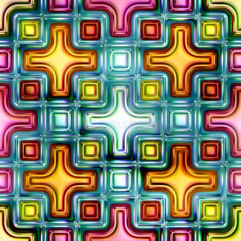 Gekleurde diamanten naadloze heldere glanzende abstracte 3D illustratie als achtergrond stock illustratie