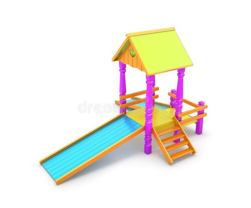 Gekleurde die kinddia op witte achtergrond wordt geïsoleerd vector illustratie