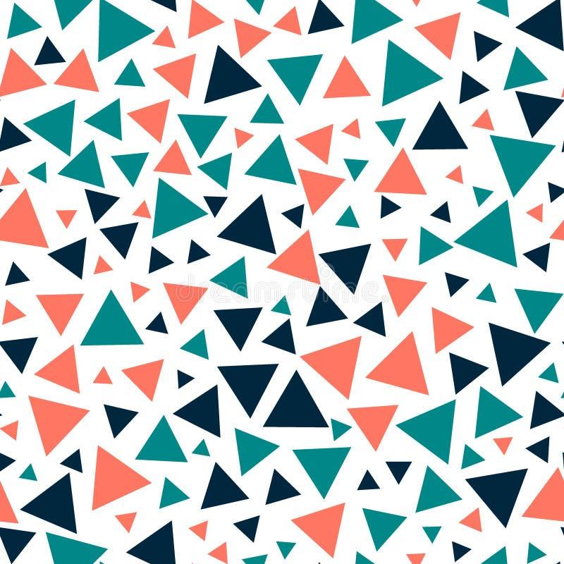 Gekleurde driehoeken - naadloos patroon royalty-vrije illustratie