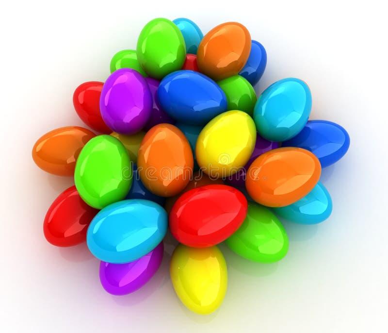 Gekleurde Eieren op een wit vector illustratie