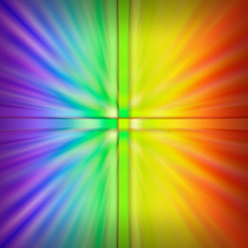Gekleurde Explosie stock illustratie