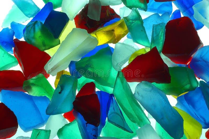 Gekleurde glasstukken royalty-vrije stock foto's