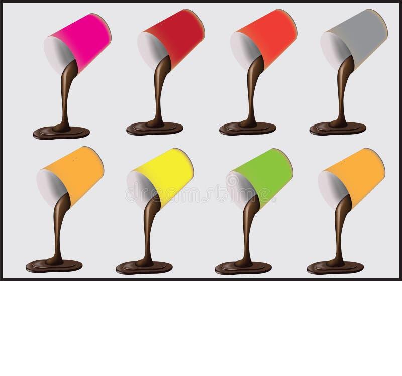Gekleurde glazen vector illustratie