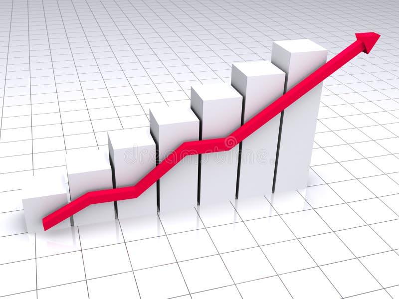 Gekleurde grafiek stock illustratie