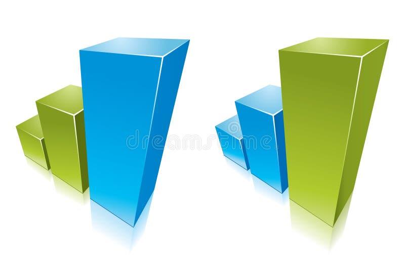 Gekleurde grafiek die groeit vector illustratie