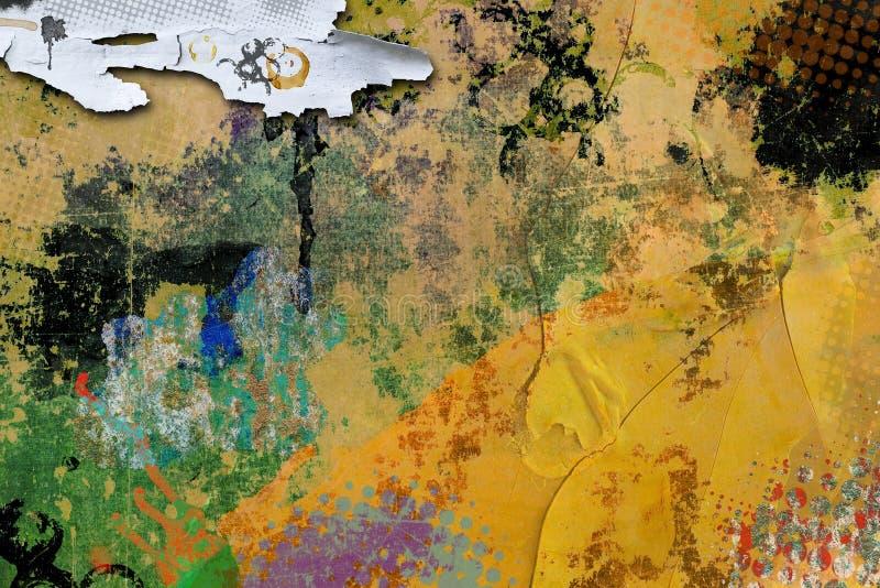 Gekleurde grunge geschilderde textuurachtergrond vector illustratie