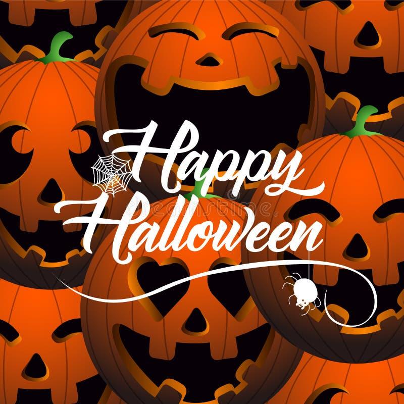 Gekleurde Halloween-kaart royalty-vrije illustratie