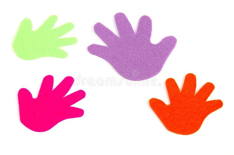Gekleurde handen royalty-vrije stock foto