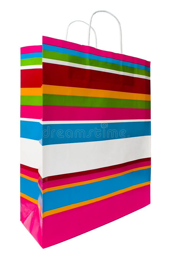 Gekleurde het Winkelen Zak stock afbeelding