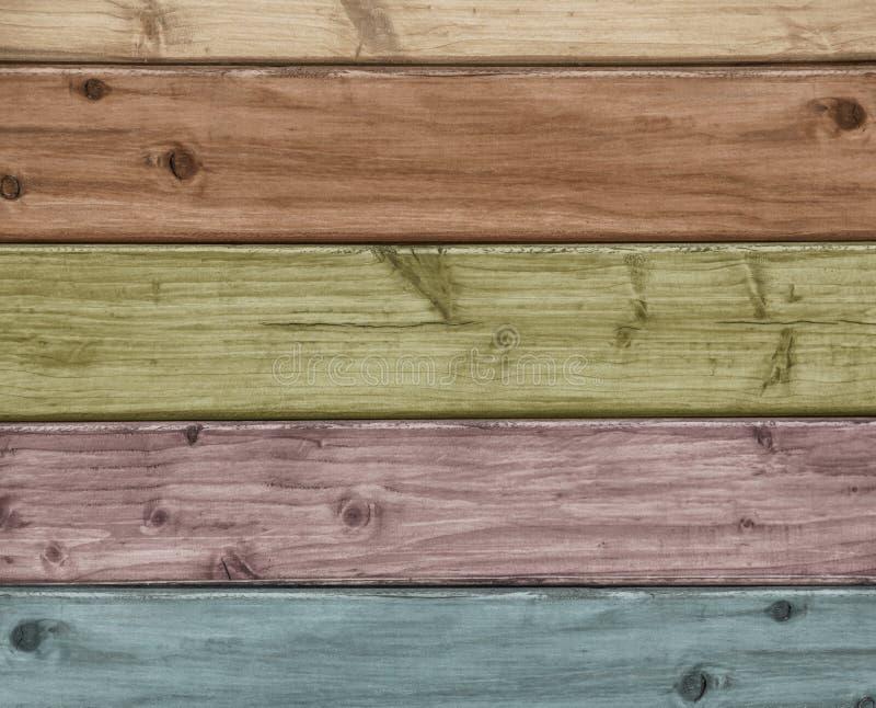 Gekleurde houten achtergrond stock foto's