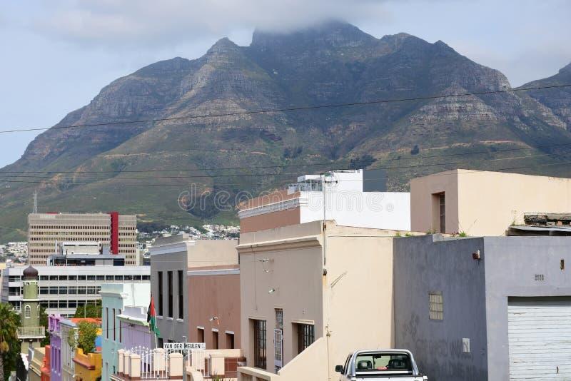 Gekleurde Huizen, BO-Kaap, Cape Town, Zuid-Afrika royalty-vrije stock foto's