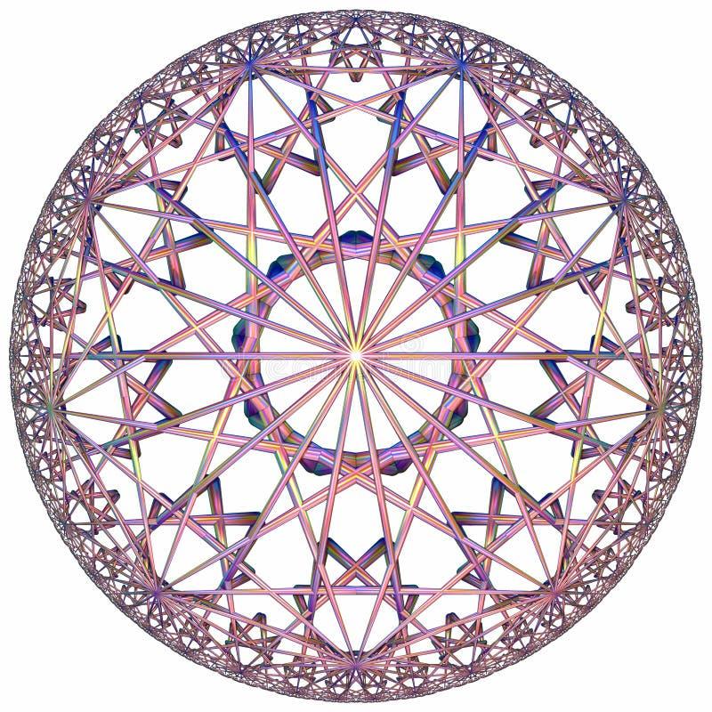 Gekleurde hyperbolische tessellation royalty-vrije stock afbeeldingen