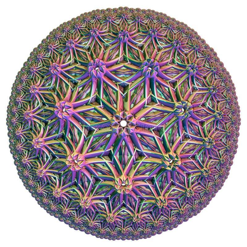 Gekleurde hyperbolische tessellation stock foto