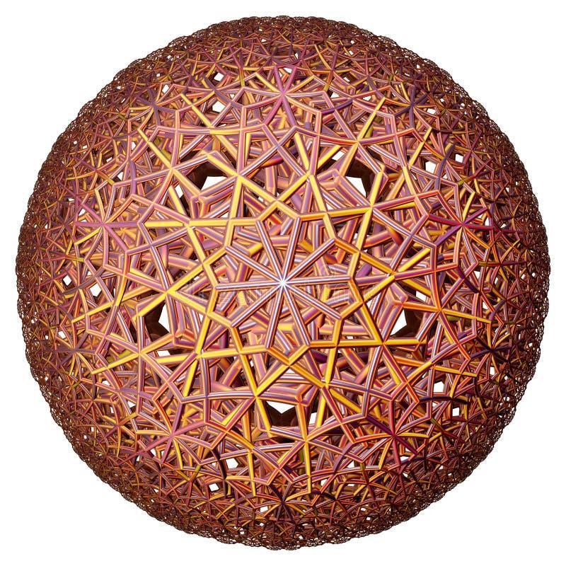 Gekleurde hyperbolische tessellation royalty-vrije stock afbeelding